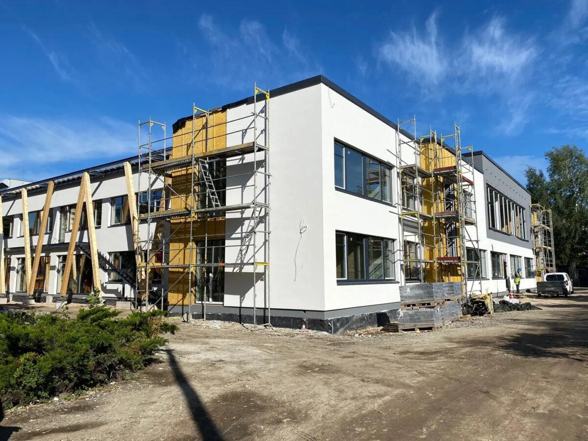 """Детский сад """"Накситралли"""" осенью 2020 года на стадии строительства. Автор фото: Таллинская городская канцелярия."""